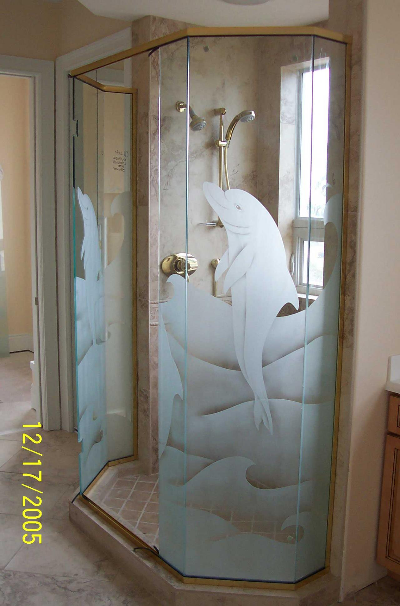 Etched glass designs for Window etching